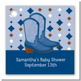 Cowboy Western - Personalized Baby Shower Card Stock Favor Tags
