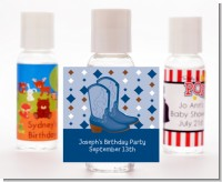 Cowboy Western - Personalized Baby Shower Hand Sanitizers Favors