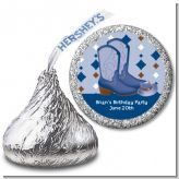 Cowboy Western - Hershey Kiss Birthday Party Sticker Labels