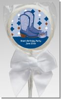 Cowboy Western - Personalized Baby Shower Lollipop Favors
