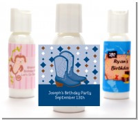 Cowboy Western - Personalized Baby Shower Lotion Favors