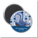Cowboy Western - Personalized Baby Shower Magnet Favors