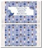 Cowboy Western - Personalized Popcorn Wrapper Baby Shower Favors