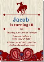 Cowboy Rider - Birthday Party Invitations