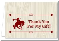 Cowboy Rider - Birthday Party Thank You Cards