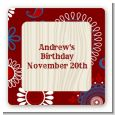 Cowboy Rider - Square Personalized Birthday Party Sticker Labels thumbnail