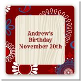 Cowboy Rider - Square Personalized Birthday Party Sticker Labels