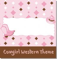 Cowgirl Western Baby Shower Theme