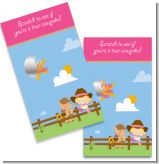 Little Cowgirl - Baby Shower Scratch Off Game Tickets
