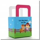 Little Cowgirl - Personalized Baby Shower Favor Boxes