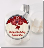 Cowgirl Rider - Personalized Birthday Party Candy Jar