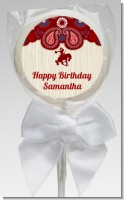 Cowgirl Rider - Personalized Birthday Party Lollipop Favors