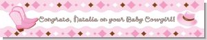 Cowgirl Western - Personalized Baby Shower Banners