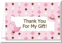 Cowgirl Western - Birthday Party Thank You Cards