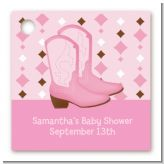 Cowgirl Western - Personalized Baby Shower Card Stock Favor Tags