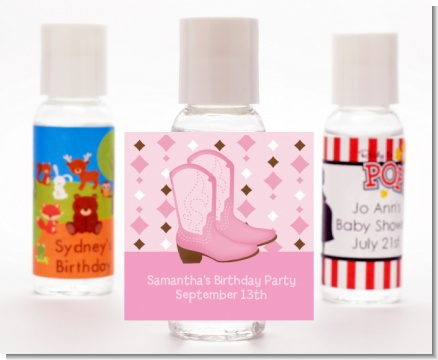 Cowgirl Western - Personalized Baby Shower Hand Sanitizers Favors