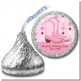 Cowgirl Western - Hershey Kiss Birthday Party Sticker Labels