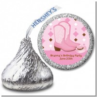 Cowgirl Western - Hershey Kiss Baby Shower Sticker Labels