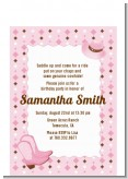 Cowgirl Western - Birthday Party Petite Invitations