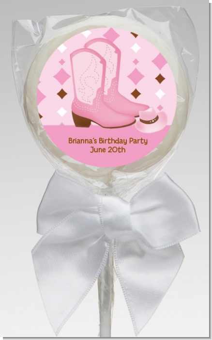 Cowgirl Western - Personalized Baby Shower Lollipop Favors
