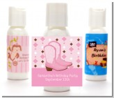 Cowgirl Western - Personalized Baby Shower Lotion Favors