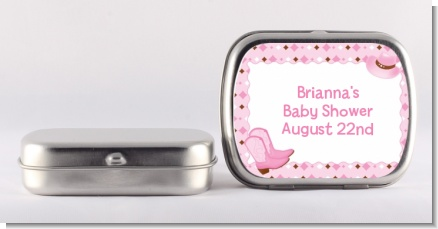 Cowgirl Western - Personalized Baby Shower Mint Tins