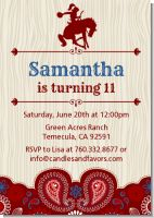 Cowgirl Rider - Birthday Party Invitations