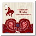 Cowgirl Rider - Personalized Birthday Party Card Stock Favor Tags thumbnail