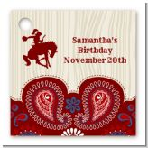 Cowgirl Rider - Personalized Birthday Party Card Stock Favor Tags