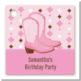 Cowgirl Western - Personalized Birthday Party Card Stock Favor Tags