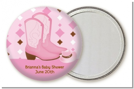 Cowgirl Western - Personalized Baby Shower Pocket Mirror Favors