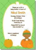 Little Pumpkin African American Baby Shower Invitations