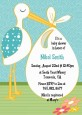 Stork It's a Boy - Baby Shower Invitations thumbnail