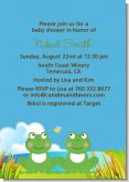 Twin Frogs - Baby Shower Invitations