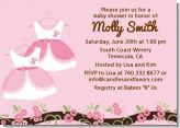 Twin Little Girl Outfits - Baby Shower Invitations