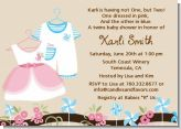 Twin Little Outfits 1 Boy and 1 Girl - Baby Shower Invitations