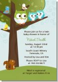 Owl - Look Whooo's Having Twin Boys - Baby Shower Invitations