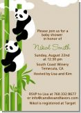 Twin Pandas - Baby Shower Invitations