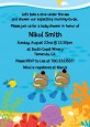 Under the Sea African American Baby Boy Twins Snorkeling - Baby Shower Invitations thumbnail