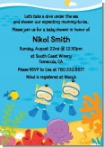 Under the Sea Asian Baby Boy Twins Snorkeling - Baby Shower Invitations