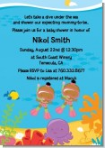 Under the Sea African American Baby Girl Twins Snorkeling - Baby Shower Invitations