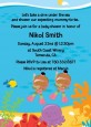Under the Sea African American Baby Girl Twins Snorkeling - Baby Shower Invitations thumbnail