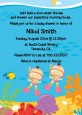 Under the Sea Asian Baby Girl Twins Snorkeling - Baby Shower Invitations thumbnail