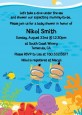 Under the Sea Hispanic Baby Boy Twins Snorkeling - Baby Shower Invitations thumbnail
