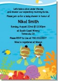 Under the Sea African American Baby Twins Snorkeling - Baby Shower Invitations