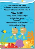Under the Sea Hispanic Baby Twins Snorkeling - Baby Shower Invitations