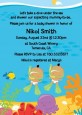 Under the Sea Hispanic Baby Twins Snorkeling - Baby Shower Invitations thumbnail