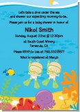 Under the Sea Twin Babies Snorkeling - Baby Shower Invitations