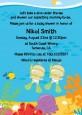 Under the Sea Twin Babies Snorkeling - Baby Shower Invitations thumbnail