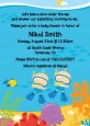 Under the Sea Baby Twin Boys Snorkeling - Baby Shower Invitations thumbnail